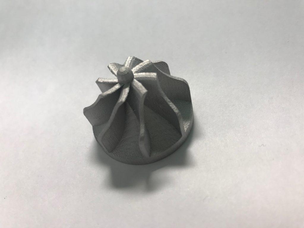 小型インペラー試作造形(アルミ合金)