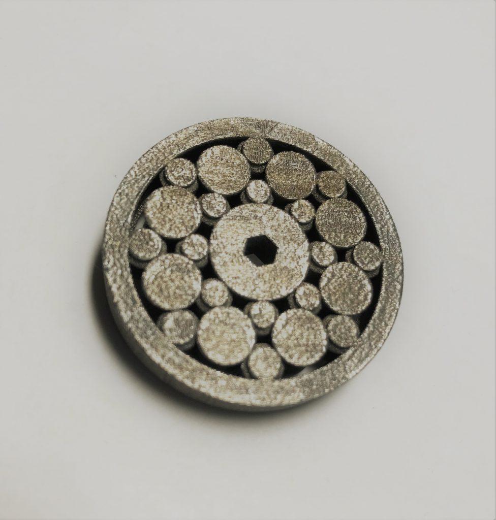特殊形状のベアリング造形サンプル(材質:SUS630)