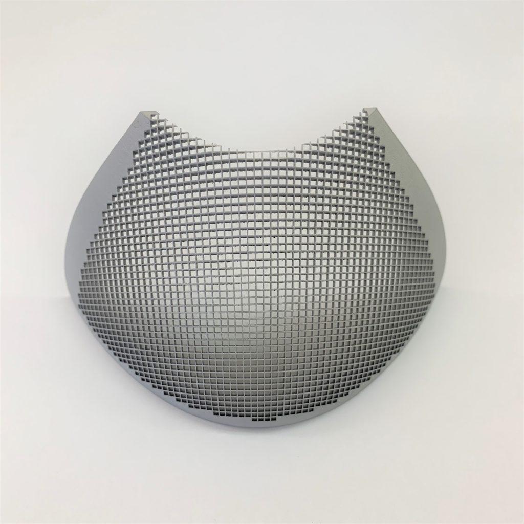 3Dメッシュマスクの造形(アルミ合金-AlSi12)