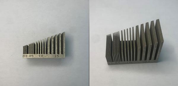 金属3Dプリンター 造形限界サンプル(SUS316L)